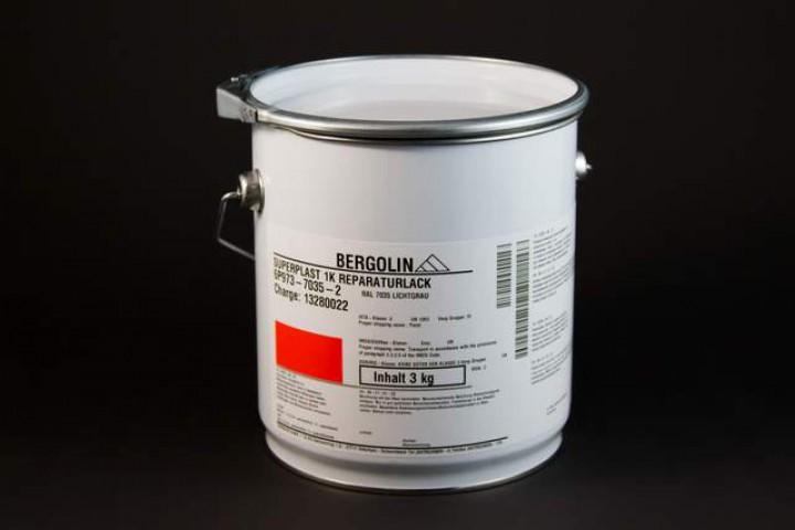 Bergolin Superplast 1K Reparaturlack RAL 7035, 3 kg Dose