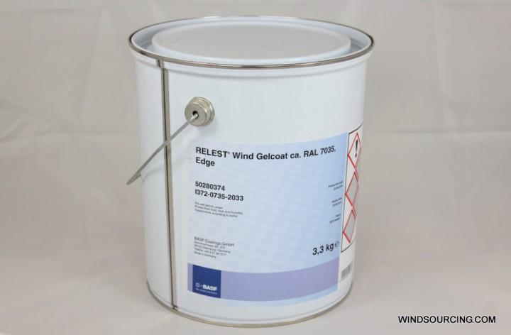 RELEST® Wind Gelcoat ca. RAL 7035, 3,3 kg, Edge, Kanten