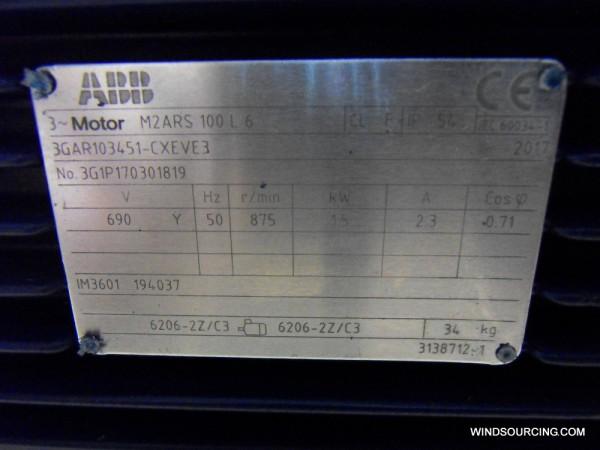 ABB Azimutmotor M2ARS 100L 6 (Vestas Nr. 194070 / ABB Nr. 3GAR103451-CXEVE3)