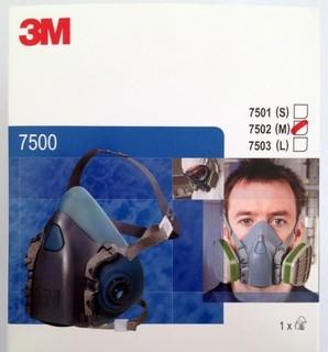 3M 7502 Half Facepiece Reusable Respirator, silicone