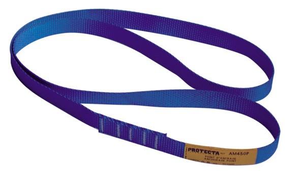 3M PROTECTA Bandschlinge AM450/80 mit 25 mm Breite, 0,8 m Länge, blau