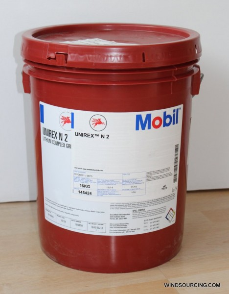 Mobil Unirex N 2, 16 kg drum, lithium complex grease