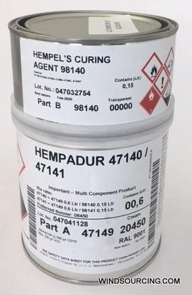 Hempadur 47140 + Härter 98140, Hempel 20450 = RAL 9001, 0,75 L