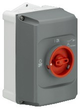 1SAM101940R1002 IB325-F Isolierstoff-Gehäuse gr/rt, IP65,