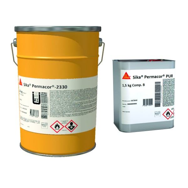 Sika Permacor 2330 WEA (AB) RAL 1023, 28,75KG. 2K-AY-PUR-DECKBESCHICHTUNG