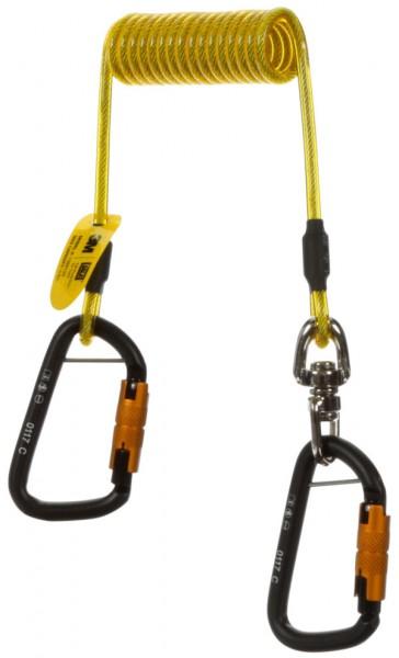 3M DBI-SALA Verbindungsmittel, gummiertes Spiralband, 2 Twist-Lock Karabiner, 1 x Drehwirbel, Länge: