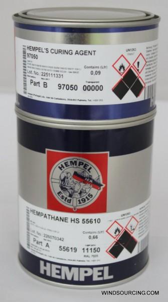 Hempel Hempathane HS 55610 + Härter 97050, 0,75 L RAL 7035