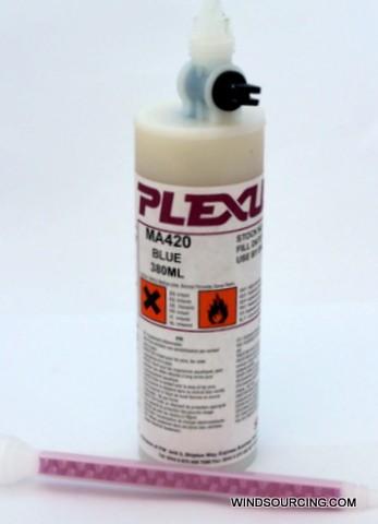 Plexus MA 420 adhesive & activator, blue, 380 ml cartridge incl. mixxing nozzle