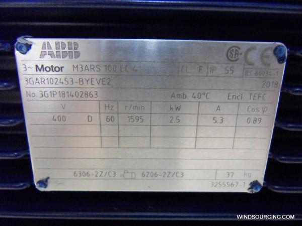 ABB Azimutmotor M3ARS 100LB 4 60 Hz (Vestas: 194023 / ABB: 3GAR102453-BYEVE2)